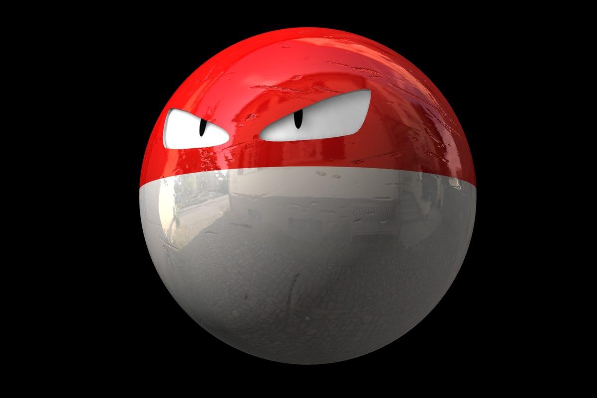 voltorb pokemon 3d c4d