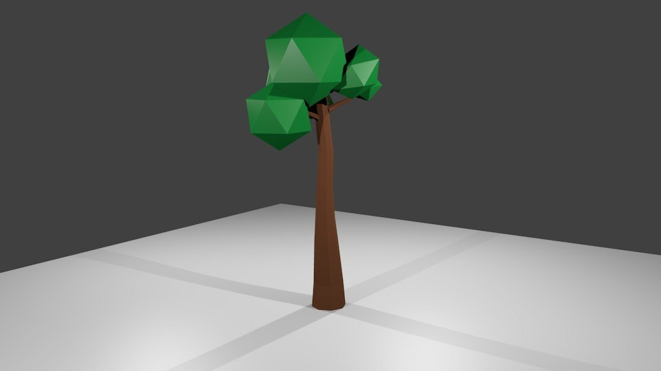 simple tree 3d obj