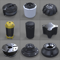 Hard Surface Kitbash Library - Canisters / Bolts / Knobs