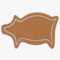 3d gingerbread cookie