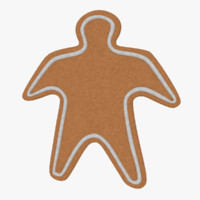 3ds gingerbread cookie