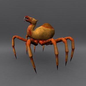 3d horror camel spider model