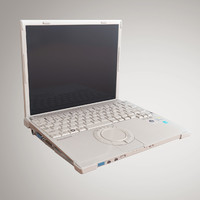 panasonic toughbook laptop 3d model