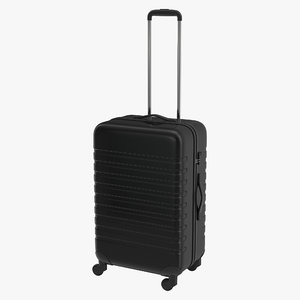 plastic trolley luggage bag 3ds