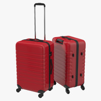 Plastic Trolley Luggage Bag Red