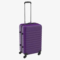 plastic trolley luggage bag 3d model