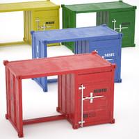 sea container desk 4 max