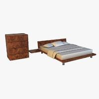 bed wood pattern x