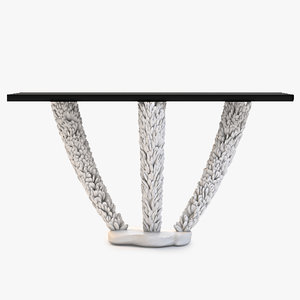 3d shell console table