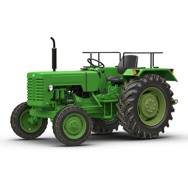 3d model of generic tractor rigged