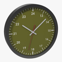 3d office clock green model