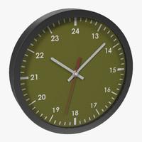 3d office clock green model