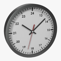 max office clock white