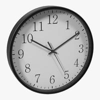 office clock 2 white 3d obj