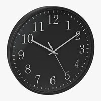 obj office clock 2 black
