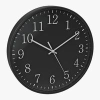 obj office clock 2 black