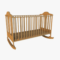3d cot light wood model