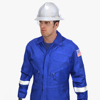 3d model of mining coveralls safety worker