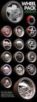 15 beautiful wheels pack 3d max