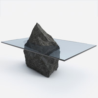 stone table design 3d model