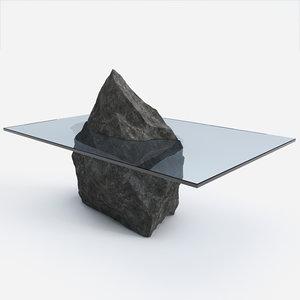 stone table design 3d model