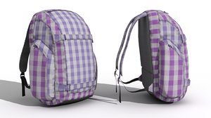 sport backpack 3d max