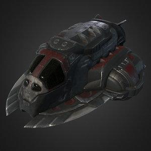 pirate spaceship 3d model