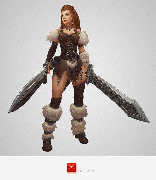 character barbarian girl ma