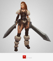 Low Poly Barbarian Girl