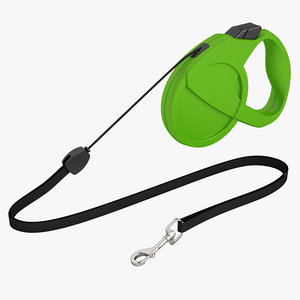 dog leash 3d obj