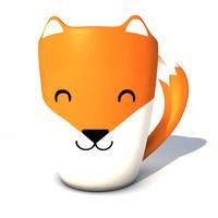 fox mug 3d model