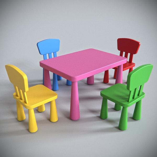 3d Model Ikea Mammut Furniture