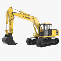 excavator komatsu 3d max