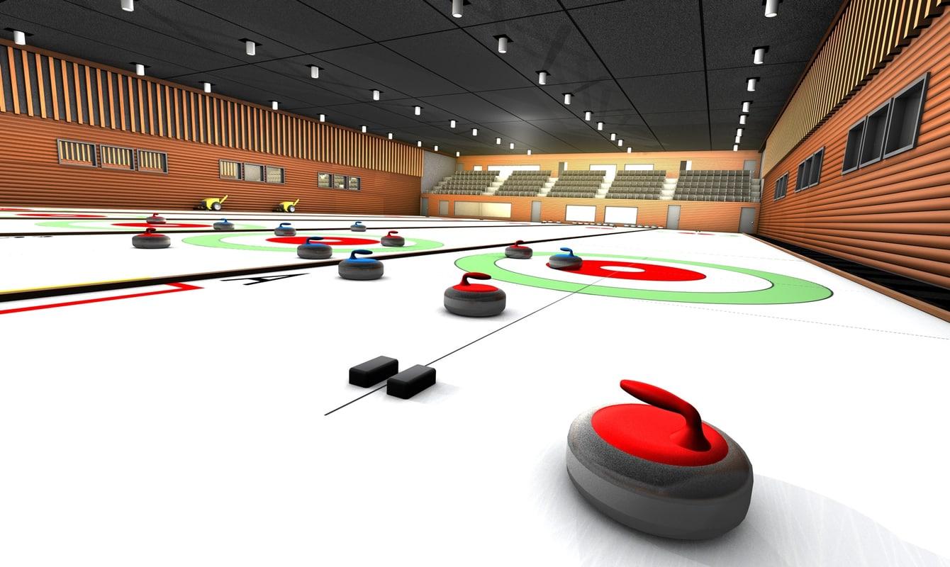3d model curling stadium club
