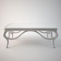 3dsmax art nouveau coffee table