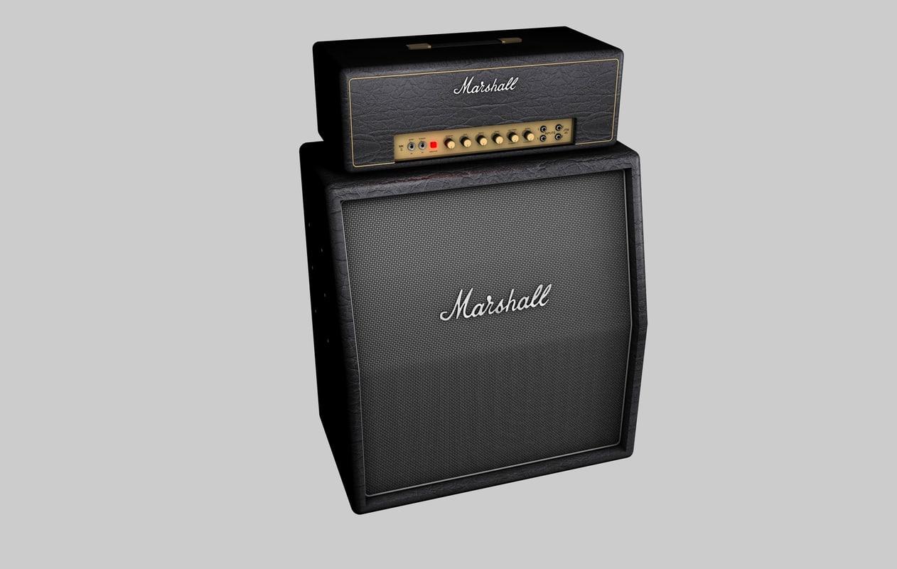 3d marshall guitar model
