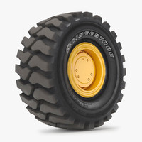 tire bridgestone vsnt 35-65r33 3d model
