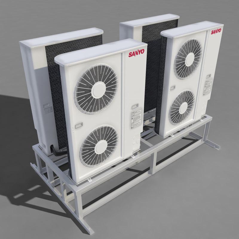 3d conditioner sanyo model