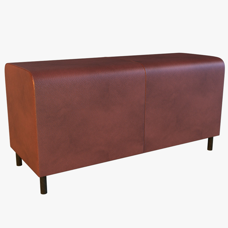 leather banquette 3d max