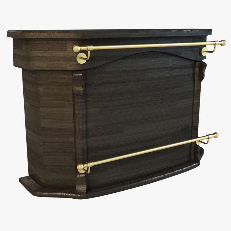 3d model bar wood