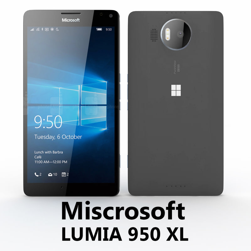microsoft lumia 950 xl 3d model