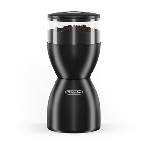3d model of electric coffee grinder