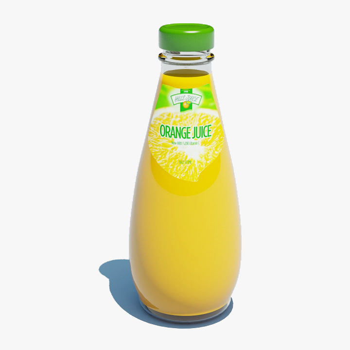 bottle orange juice max