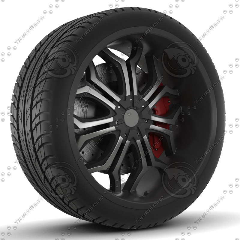 3d 3ds wheel rim