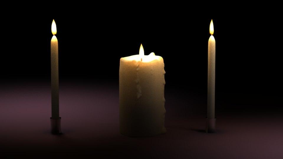 3d candle vector model