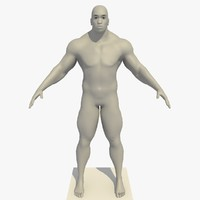 3d realistic african man rigged model