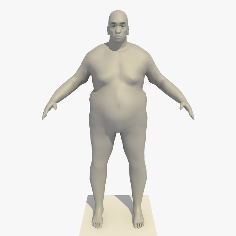3d model rigged african old man