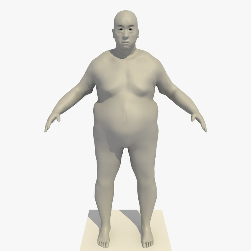 c4d realistic base mesh obese