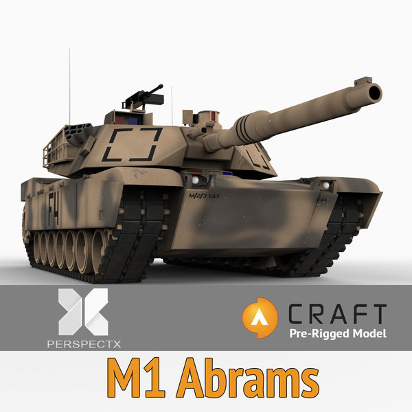 m1a craft director abrams tank 3d model