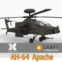 AH-64 Apache Pre-Rigged for Craft Director Tools